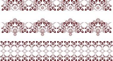 Decorative motifs swirl
