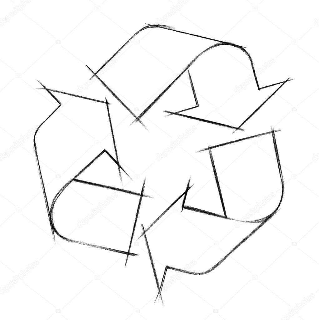Geri Dönüşüm Logosu Illüstrasyon Stok Foto Prill 7492868