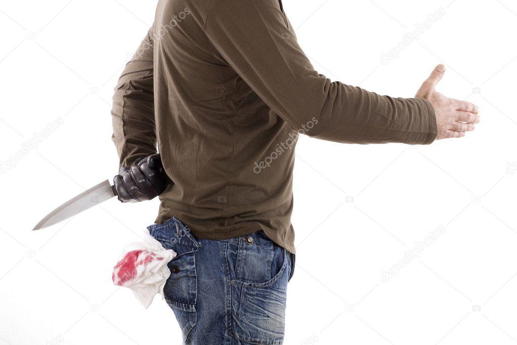 Картинка человек с ножом в спине