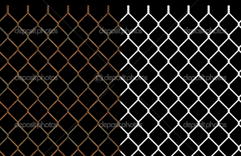 Rusty wire chain link fence — Stock Photo © z576 #6943591