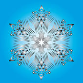 Abstract isolated vector snowflake