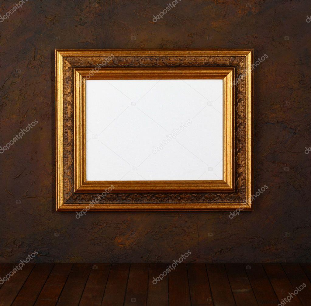 alte bilderrahmen an der wand — stockfoto © sbelov #7553951