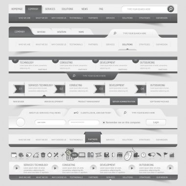 Web site navigation elements