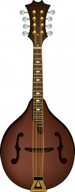 Clip Art Illustration of a Mandolin