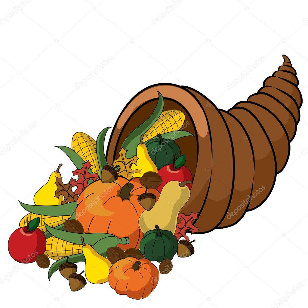 clip art illustration of a thanksgiving cornucopia full of fall rh depositphotos com cornucopia clipart transparent cornucopia clipart transparent
