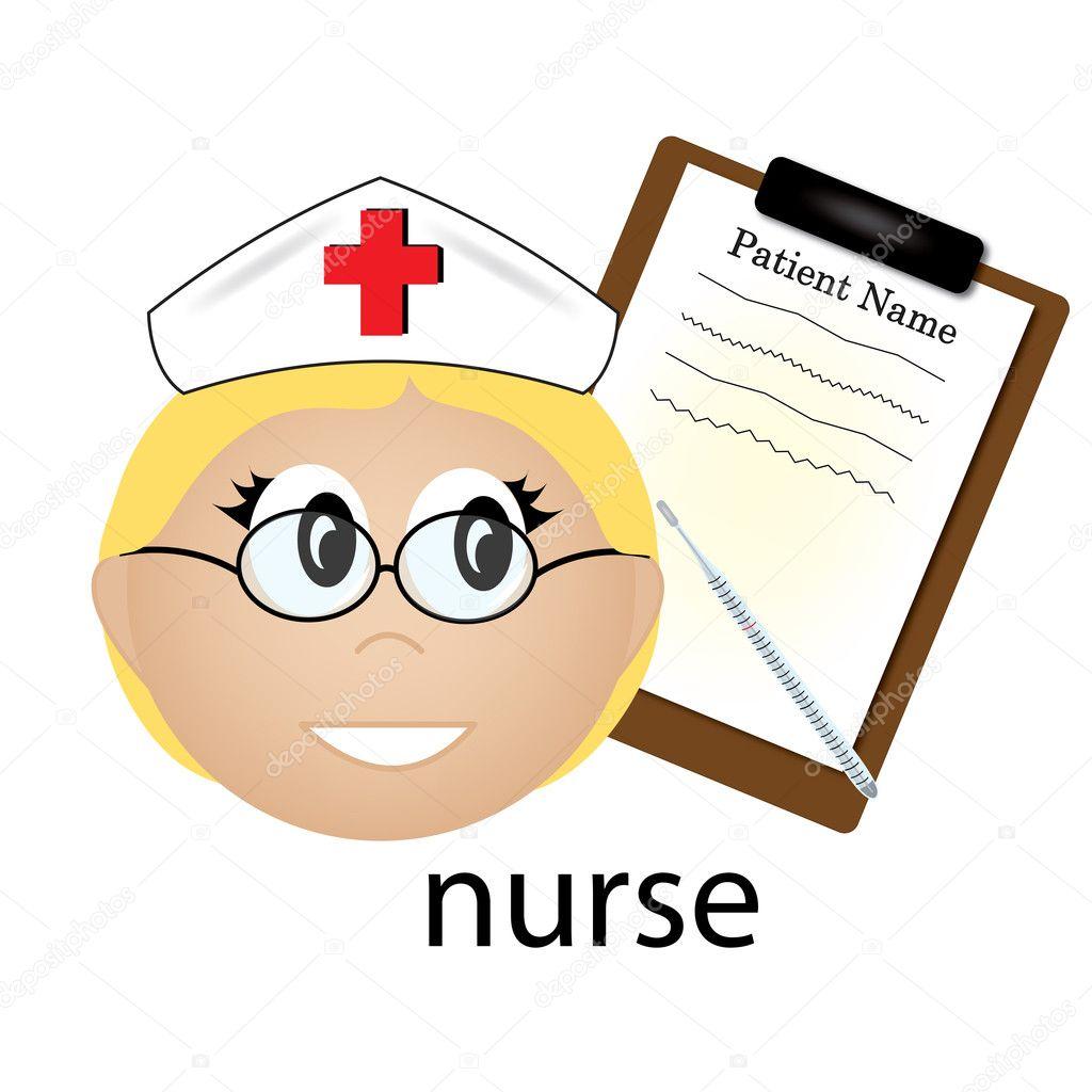 看護師の職業アイコンのクリップ アート イラスト ストック写真