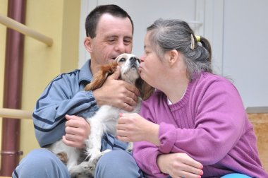 Down syndrome stock photos: love