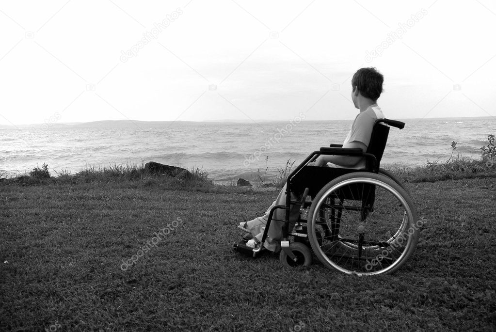 Woman in a wheel chair