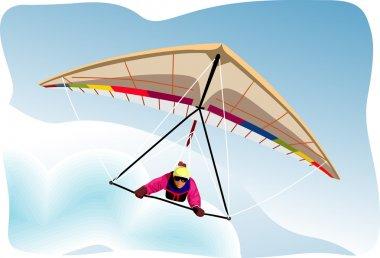 Hang-glider vector