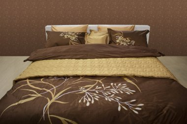 Chocolate bed linen