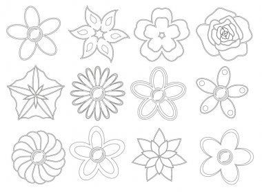 Flowers pack for coloring book