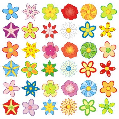 Flowers big pack, 36 pieces