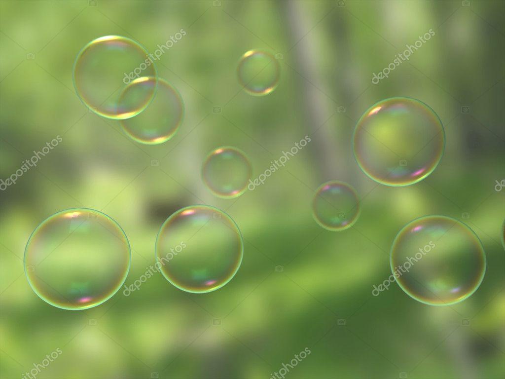 Soap Bubble Wallpaper Soap Bubbles On Blur Background