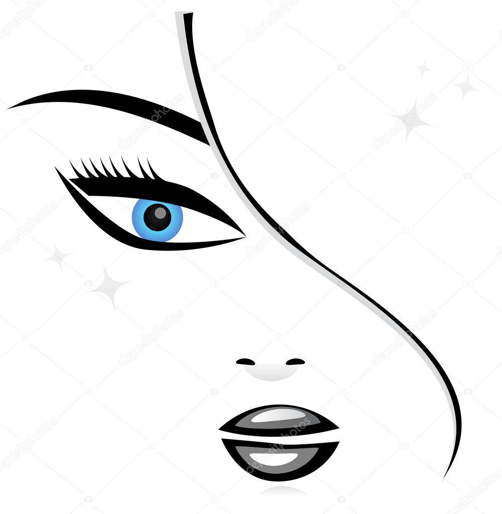 ᐈ Volti Stilizzati Illustrazioni Di Stock Disegni Viso Donna Stilizzato Scarica Su Depositphotos