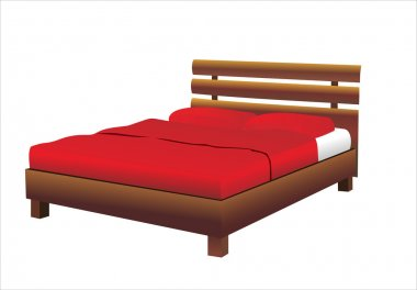 Bed. Isolated vector