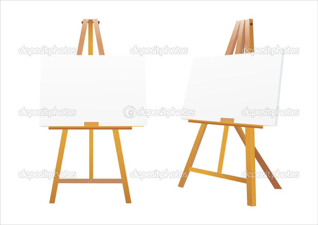 Isolated easel with empty canvas vector stock vector for What to do with a canvas