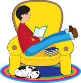 chlapce a psa čtení