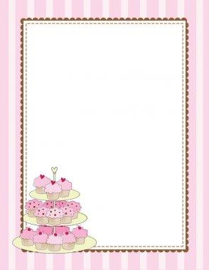 Cupcake Border Pink