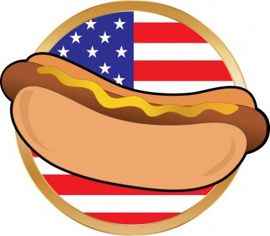 Hot Dog American Flag