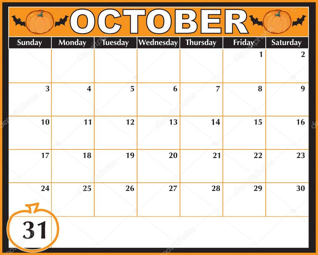Calendar Halloween pictures