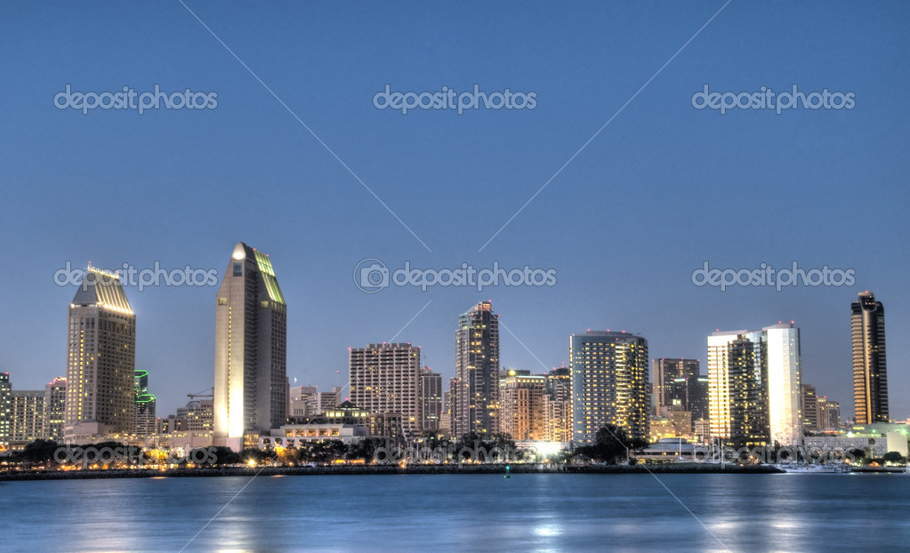 HDR of San Diego at Night