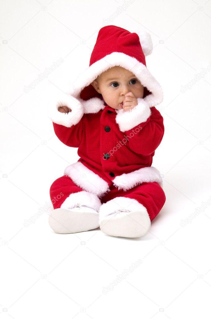 bambino vestito in abito di Natale — Foto Stock © jacksonjesse  7106960 67bbe333b0e