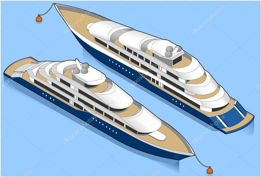 Isometric cruise ship