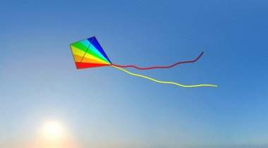 Kite with sunset