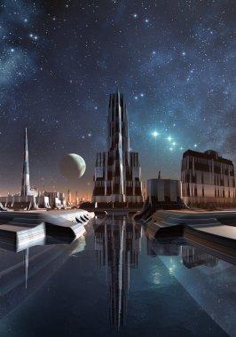 Modern City Skyline On Taris 05
