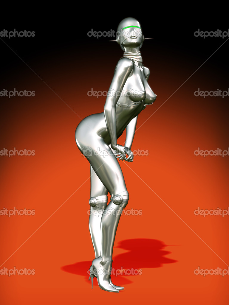 Sexy robot girl