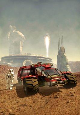 Mars human colony