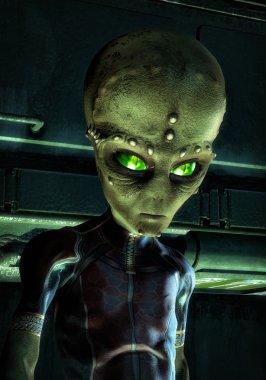 Ufo alien green