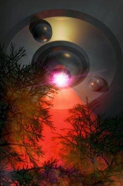 Ufo alien ray beam