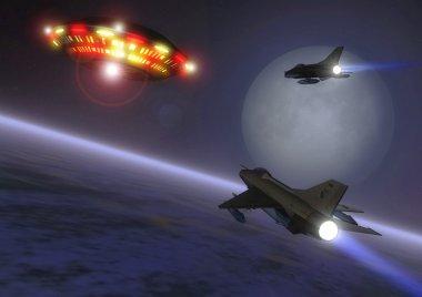 Ufo alien and interceptors
