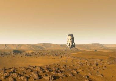 Mars surface background