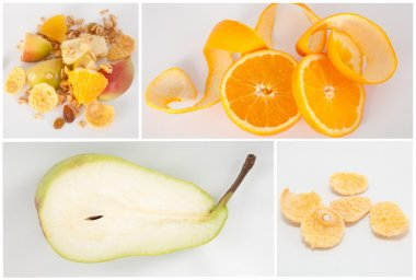 Healthy food collage