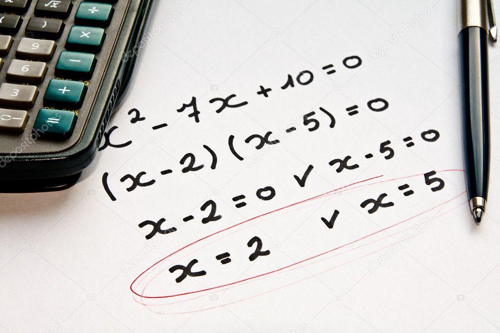 Math exercise — Stock Photo © PiXXart #7240570