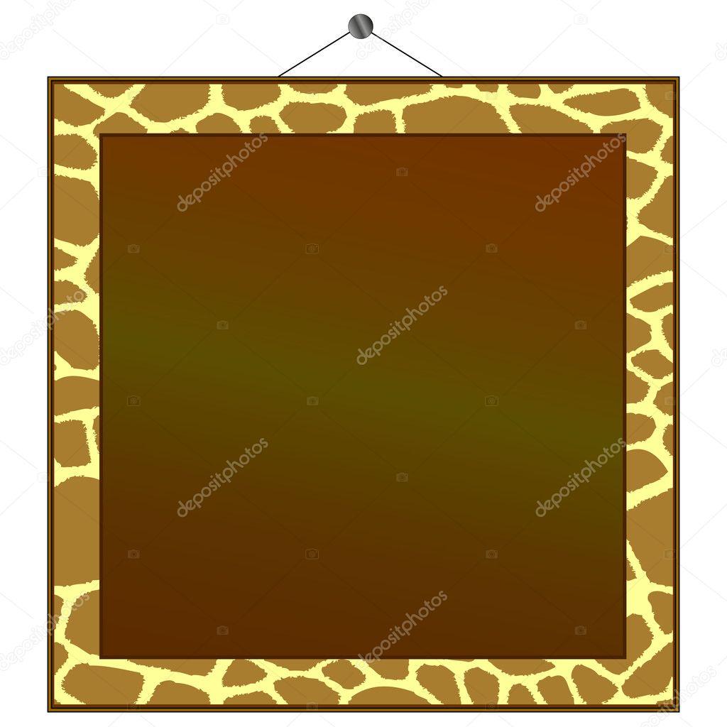 Rahmen, um Ihr eigenes Foto oder Text in setzen die Giraffe ...