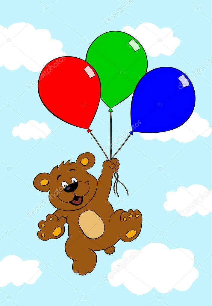 медвежонок на воздушном шаре картинки каждого нас свой