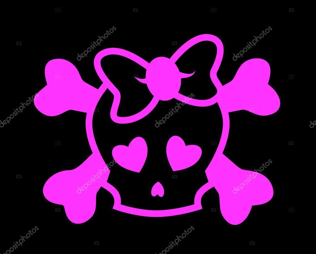 Emo Skulls Cute Pink Music Poster 12x18 Inch