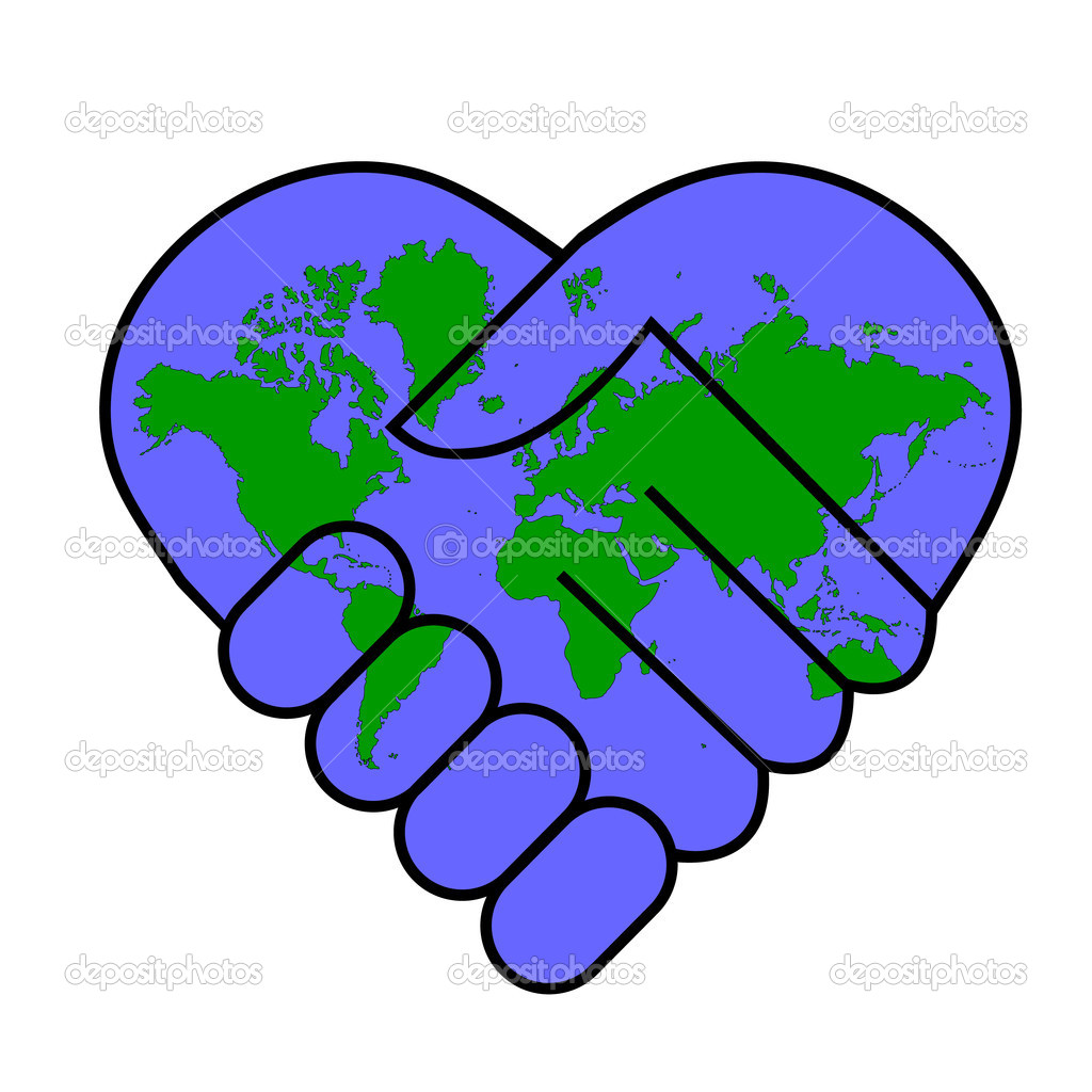 Dibujos Paz Mundial Paz Mundial Vector De Stock