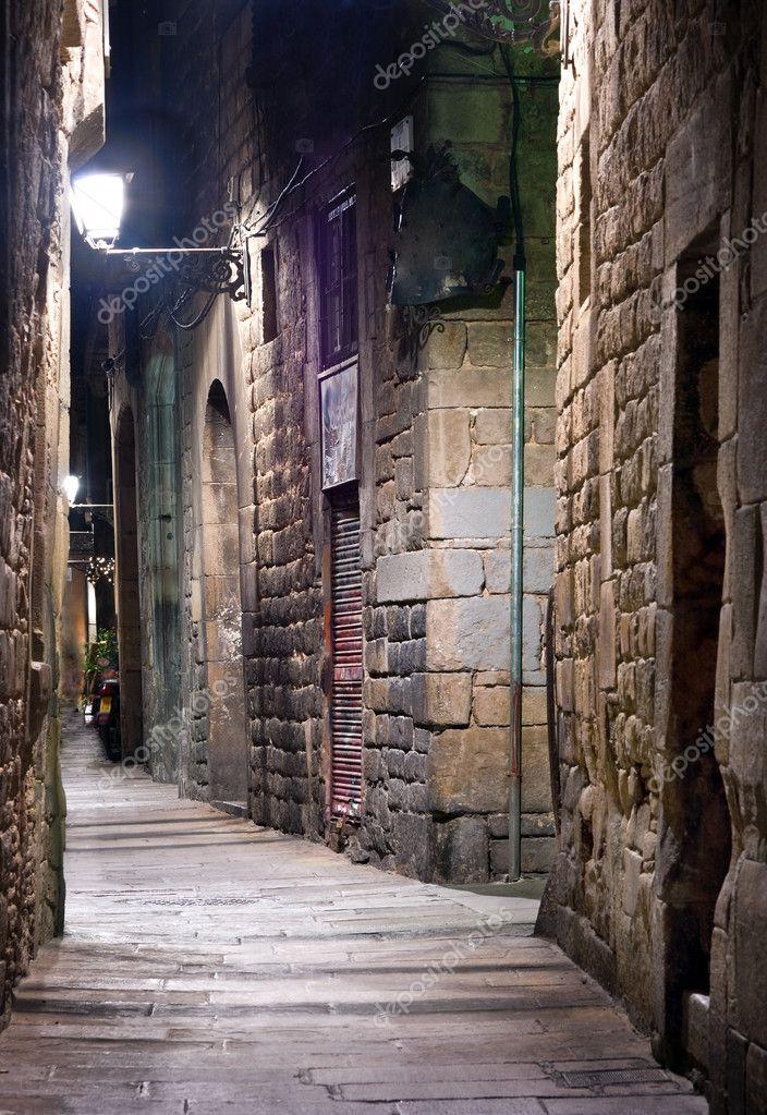 Фотообои Old town in Barcelona