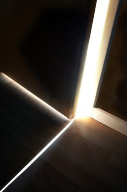 Light behind door