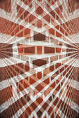 Fotografie abstraktní červená cihlová zeď