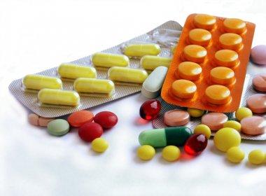 Various multicolo medicines