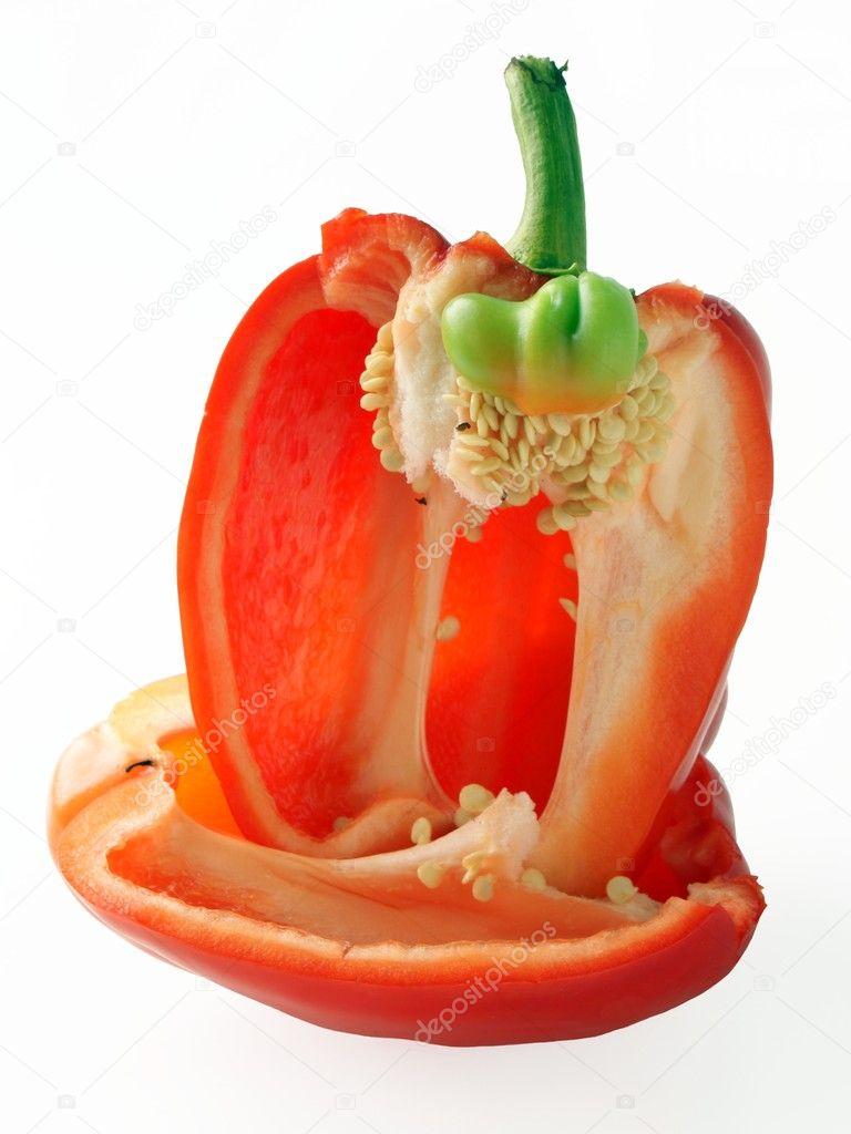 Anatomy od red pepper fruit — Stock Photo © Manka #7533004