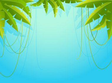 Beautiful background with tropical branches stock vector