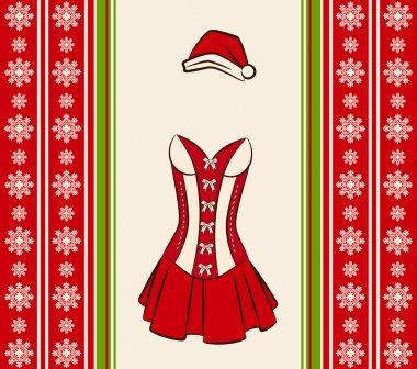 Christmas underlinen for sexy snow maiden.