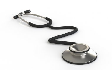 Stethoscope. Perspective view af a Stethoscope.