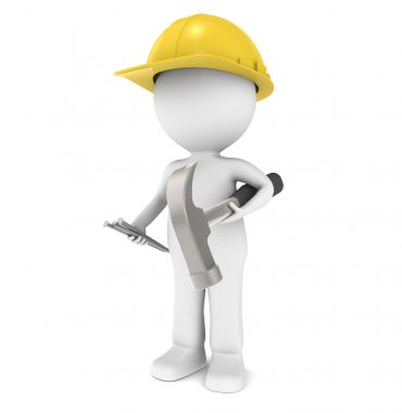 3D Little Human Character The Builder